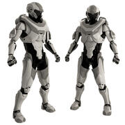 Gray Robot 3d model