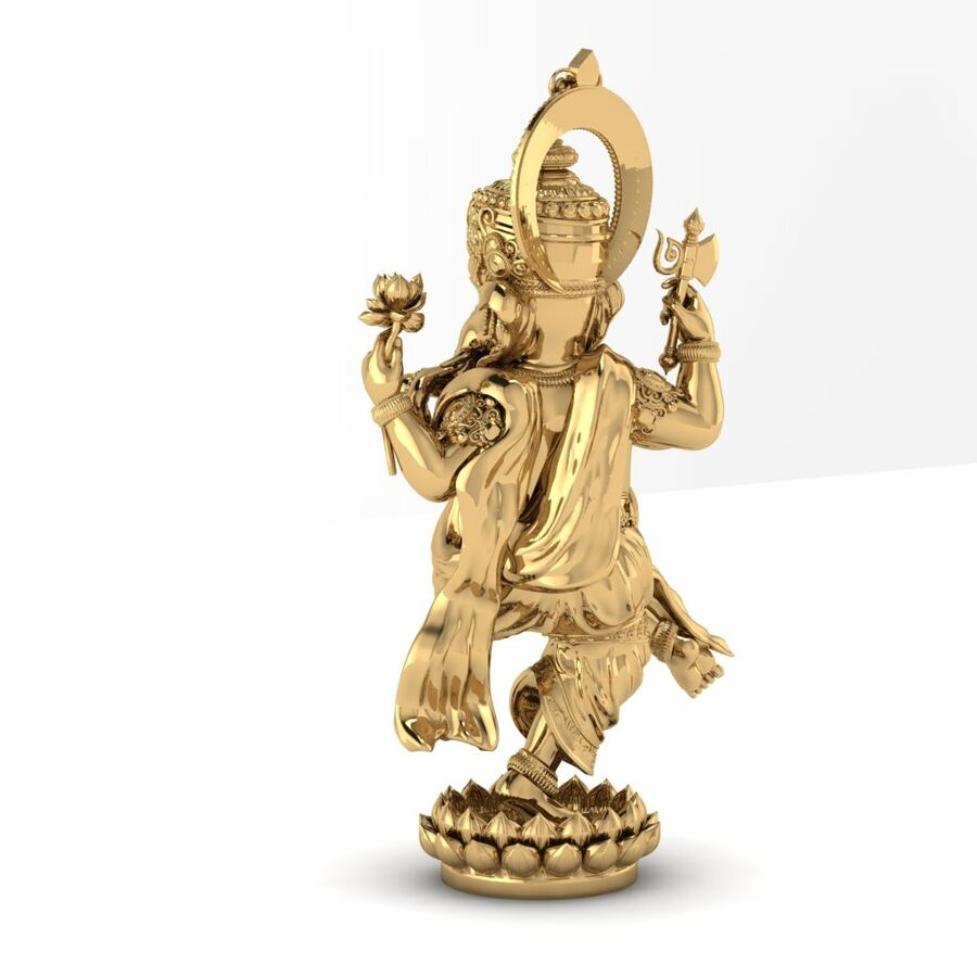 Lord Ganesha 3D-modell royalty-free 3d model - Preview no. 7
