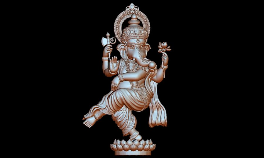 Lord Ganesha 3D-modell royalty-free 3d model - Preview no. 9