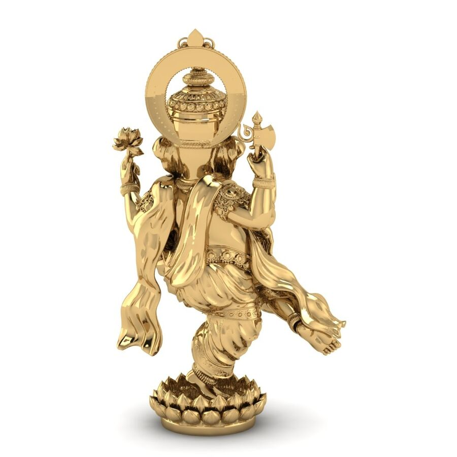Lord Ganesha 3D-modell royalty-free 3d model - Preview no. 6