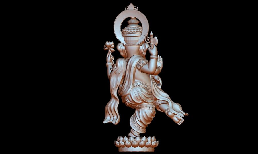 Lord Ganesha 3D-modell royalty-free 3d model - Preview no. 12