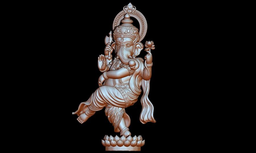 Lord Ganesha 3D-modell royalty-free 3d model - Preview no. 18