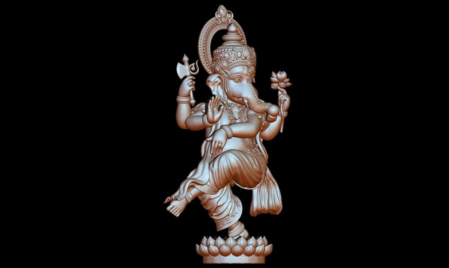 Lord Ganesha 3D-modell royalty-free 3d model - Preview no. 10