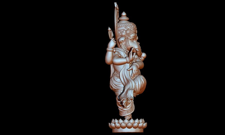 Lord Ganesha 3D-modell royalty-free 3d model - Preview no. 13