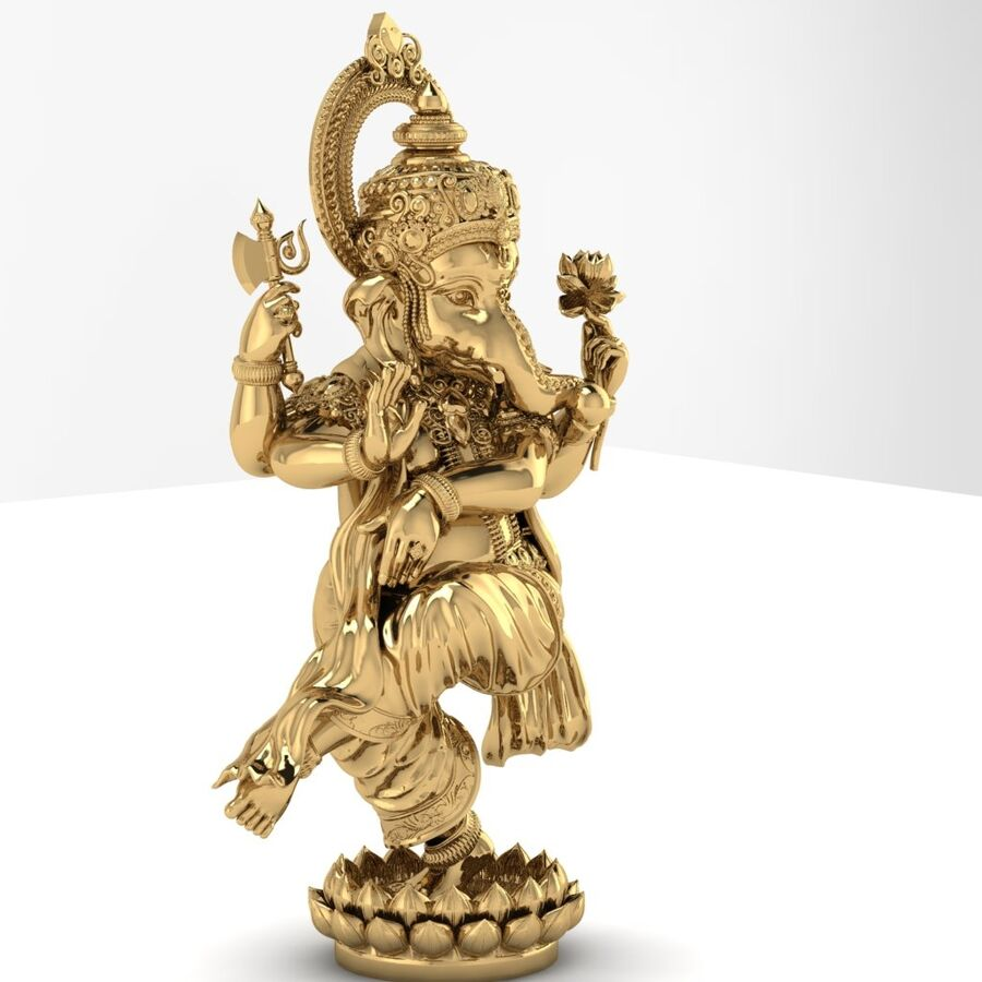Lord Ganesha 3D-modell royalty-free 3d model - Preview no. 5