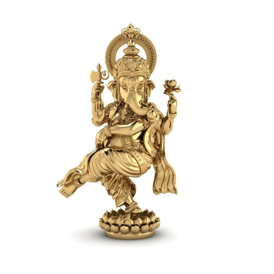 Lord Ganesha 3D-modell royalty-free 3d model - Preview no. 3
