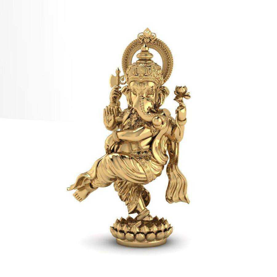 Lord Ganesha 3D-modell royalty-free 3d model - Preview no. 2
