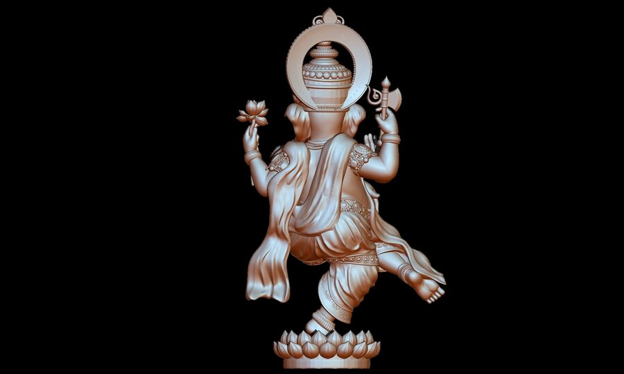 Lord Ganesha 3D-modell royalty-free 3d model - Preview no. 15