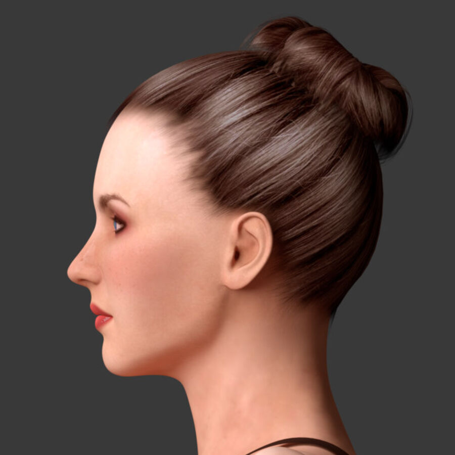 조작 된 아름다운 여성 royalty-free 3d model - Preview no. 4