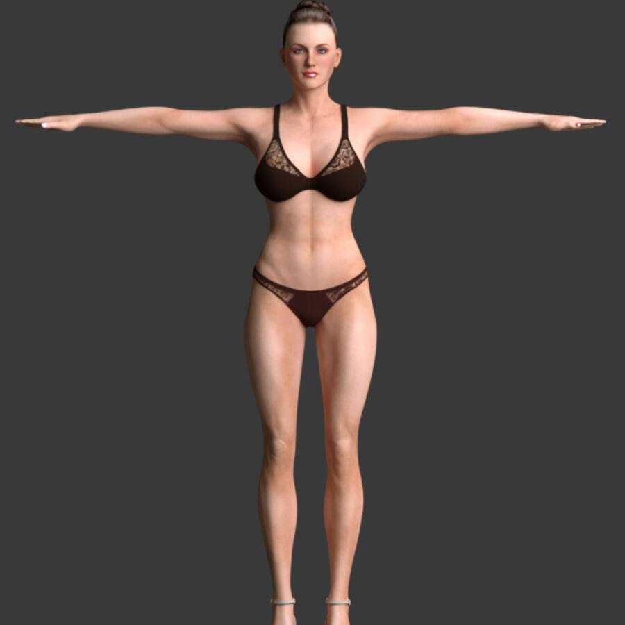 조작 된 아름다운 여성 royalty-free 3d model - Preview no. 5