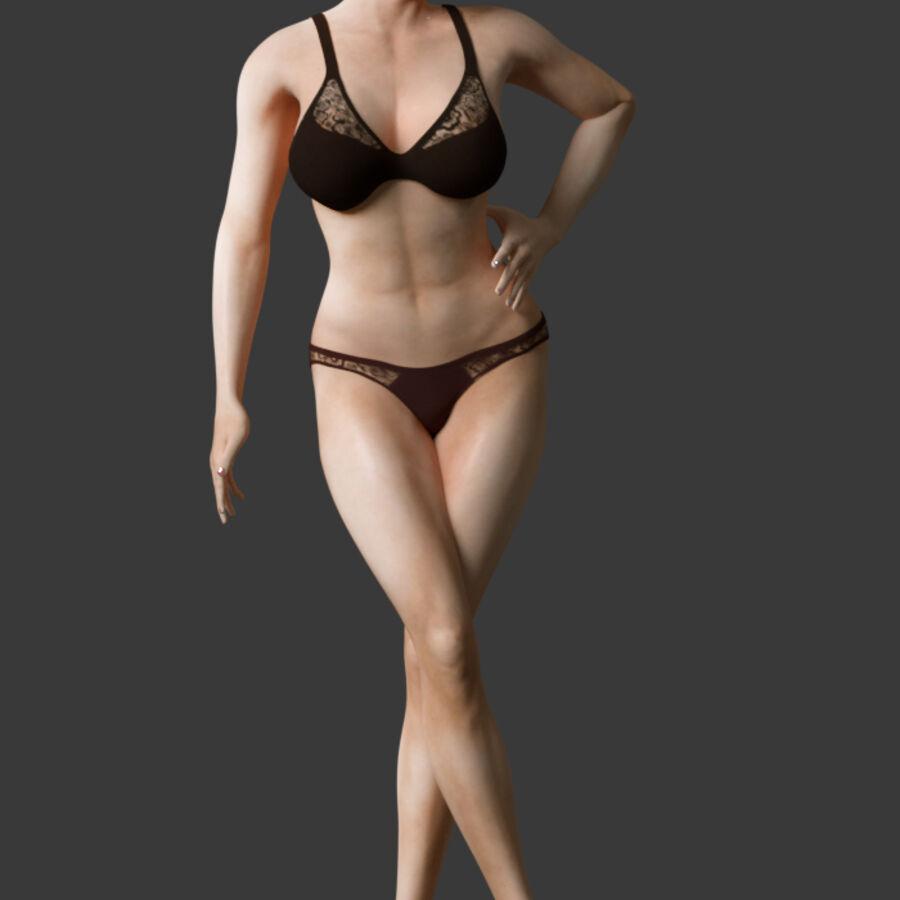 조작 된 아름다운 여성 royalty-free 3d model - Preview no. 2