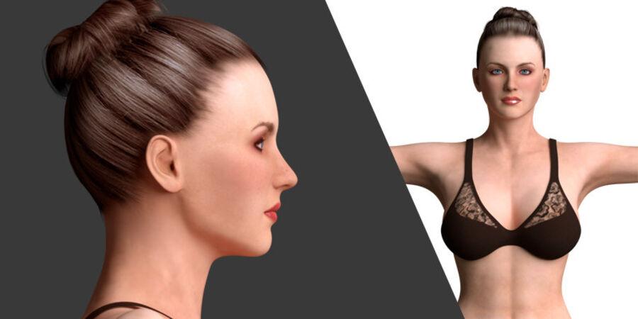 조작 된 아름다운 여성 royalty-free 3d model - Preview no. 1