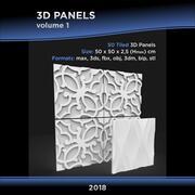 3D面板卷1个 3d model