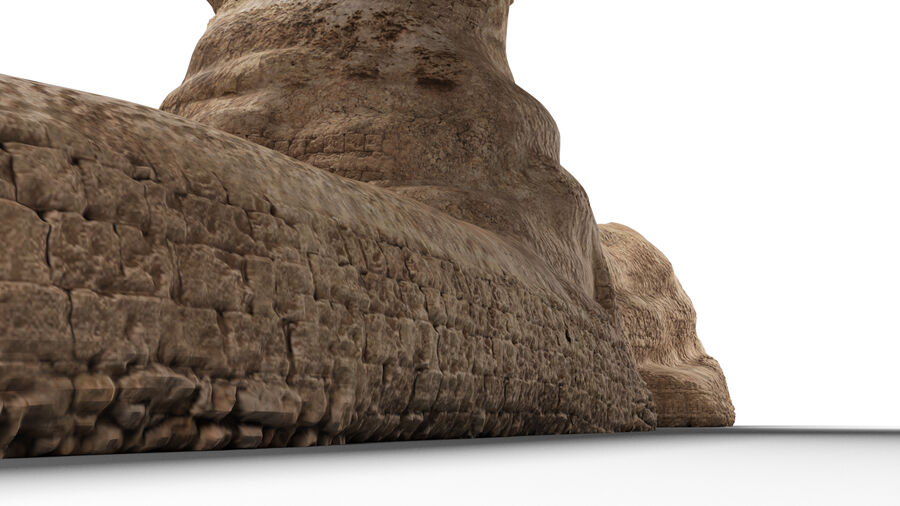 great sphinx of Giza+pyramid royalty-free 3d model - Preview no. 5