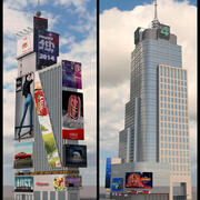 One And Four Times Square HD 3d model