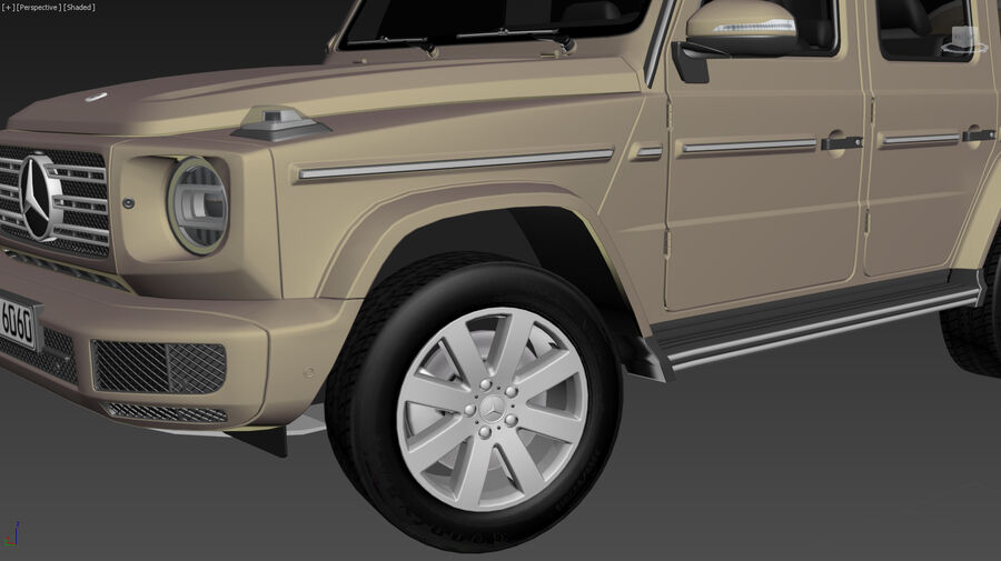 Mercedes-Benz G-Class 2018 royalty-free 3d model - Preview no. 15