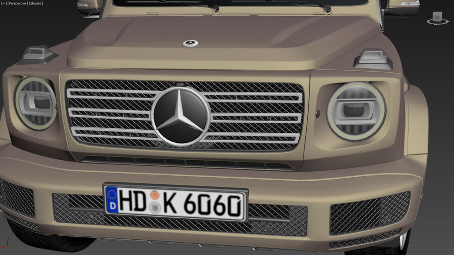 Mercedes-Benz G-Class 2018 royalty-free 3d model - Preview no. 14
