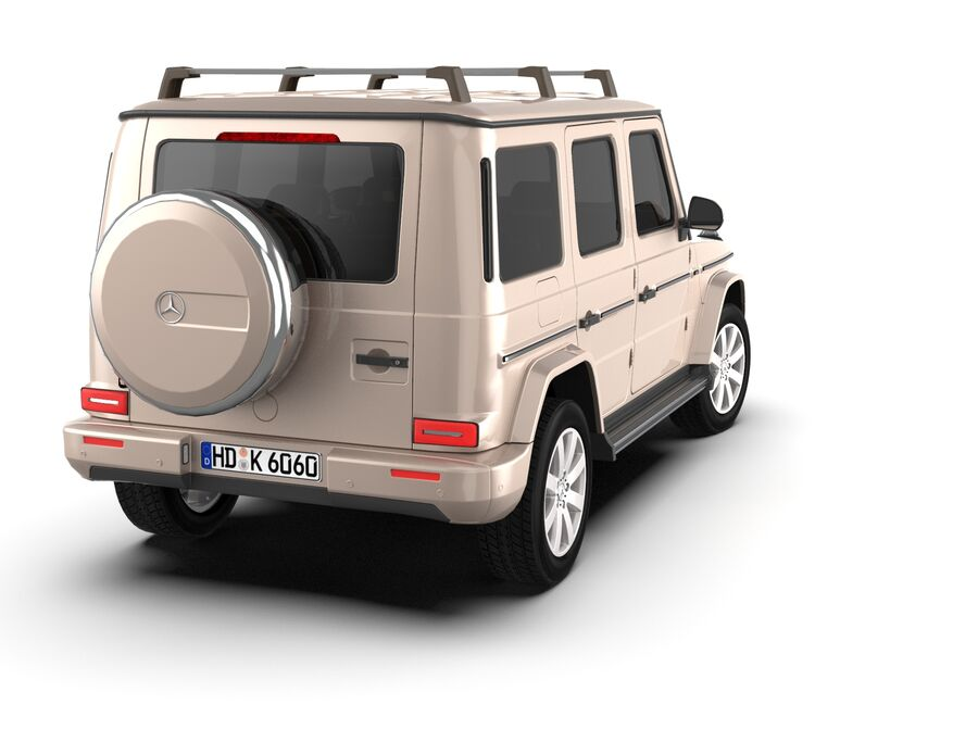 Mercedes-Benz G-Class 2018 royalty-free 3d model - Preview no. 4