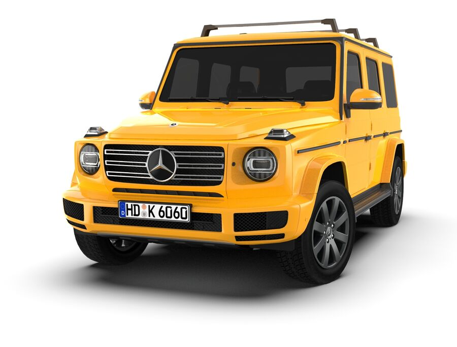 Mercedes-Benz G-Class 2018 royalty-free 3d model - Preview no. 9