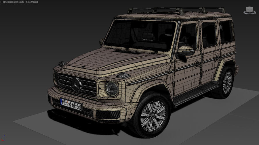 Mercedes-Benz G-Class 2018 royalty-free 3d model - Preview no. 18