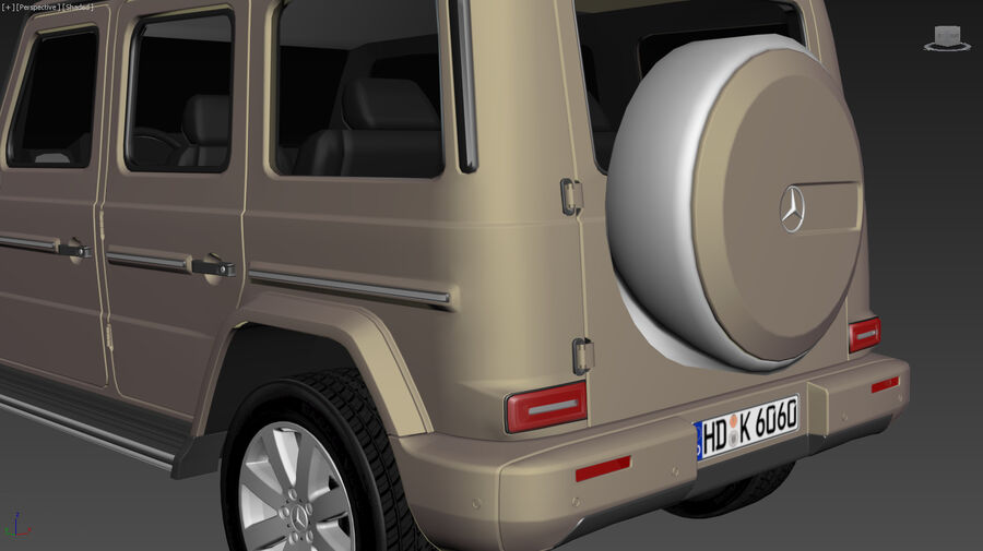 Mercedes-Benz G-Class 2018 royalty-free 3d model - Preview no. 16
