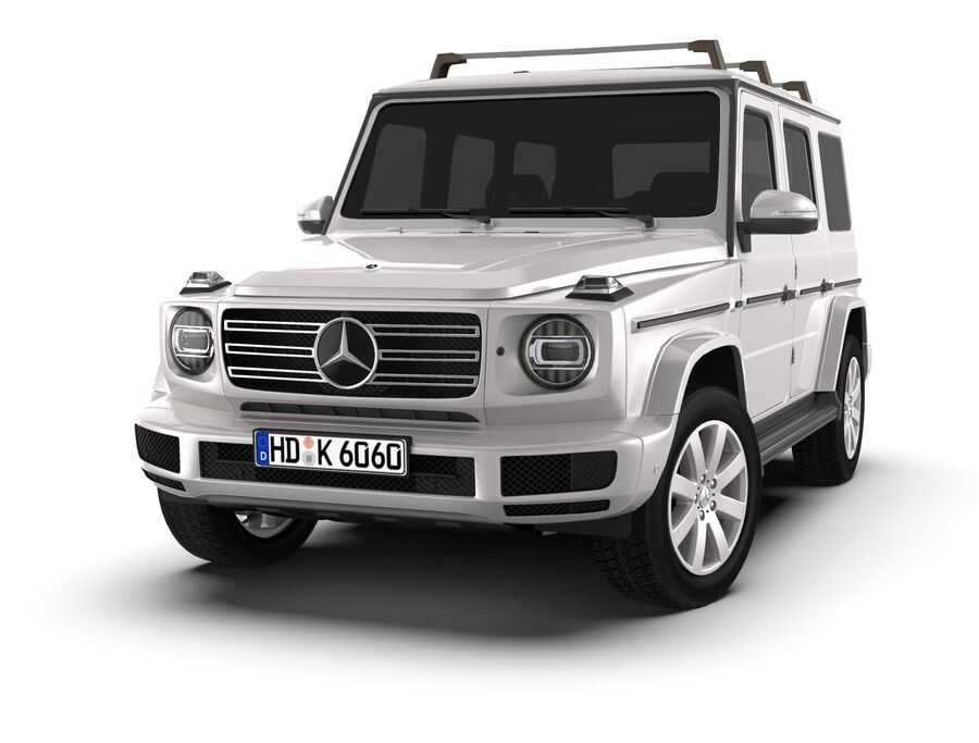 Mercedes-Benz G-Class 2018 royalty-free 3d model - Preview no. 8