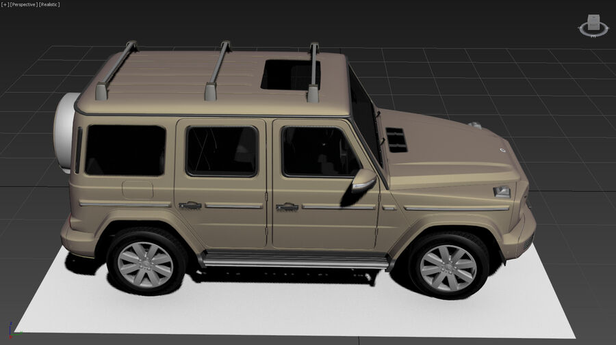 Mercedes-Benz G-Class 2018 royalty-free 3d model - Preview no. 13