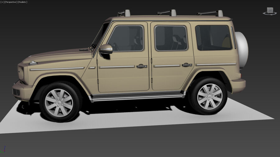 Mercedes-Benz G-Class 2018 royalty-free 3d model - Preview no. 11