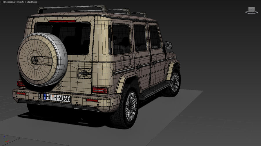 Mercedes-Benz G-Class 2018 royalty-free 3d model - Preview no. 19