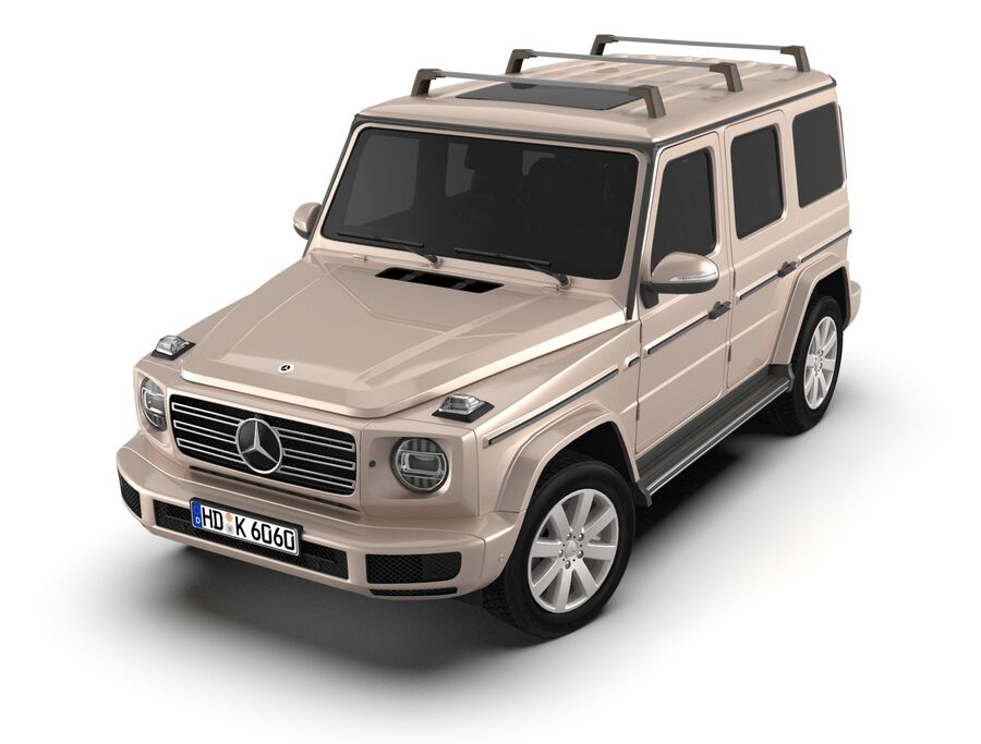 Mercedes-Benz G-Class 2018 royalty-free 3d model - Preview no. 2