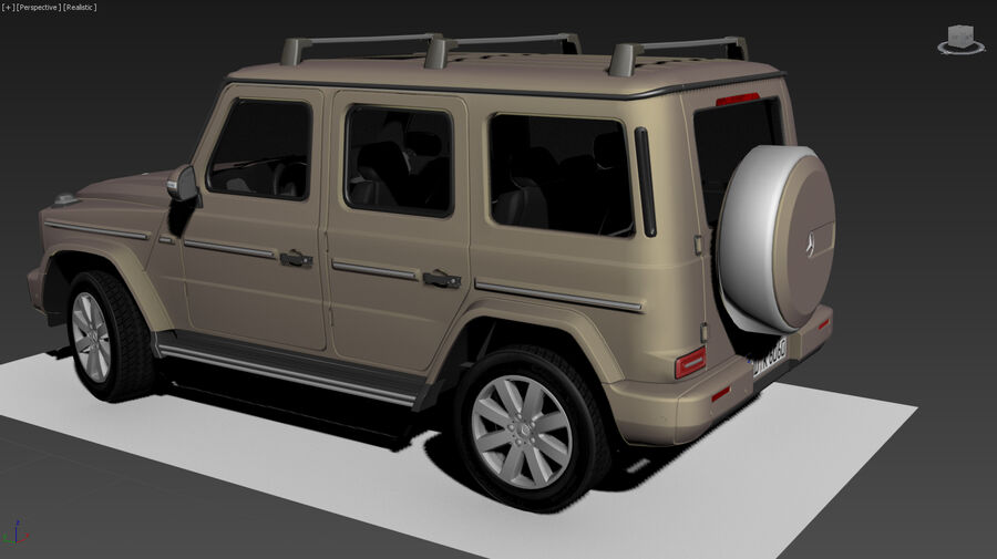 Mercedes-Benz G-Class 2018 royalty-free 3d model - Preview no. 12