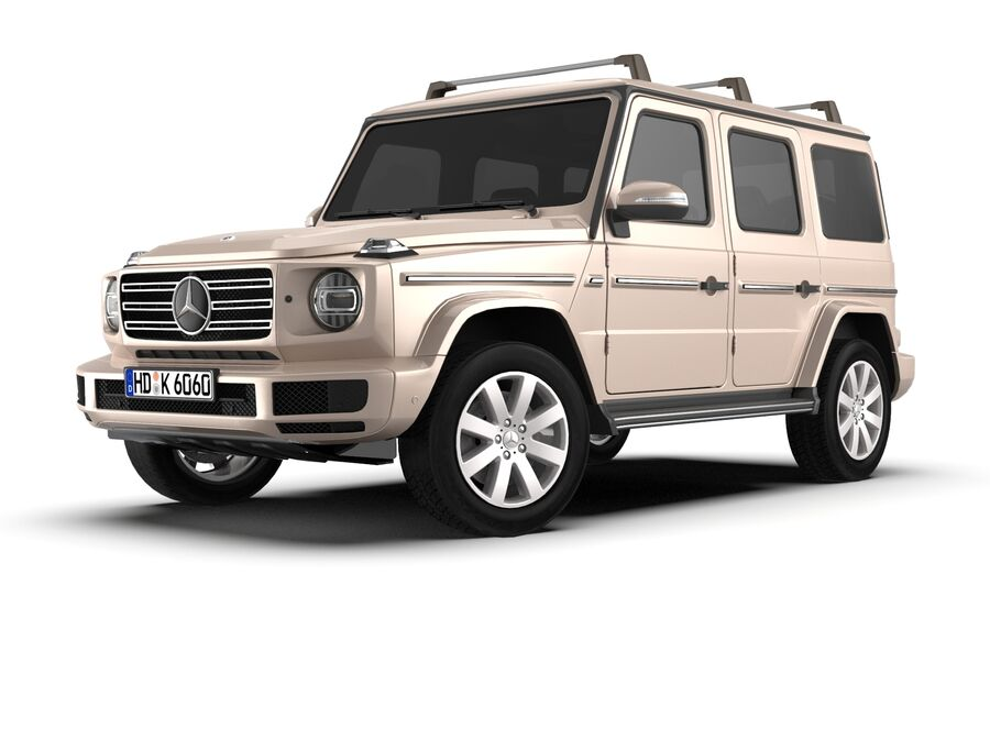 Mercedes-Benz G-Class 2018 royalty-free 3d model - Preview no. 1