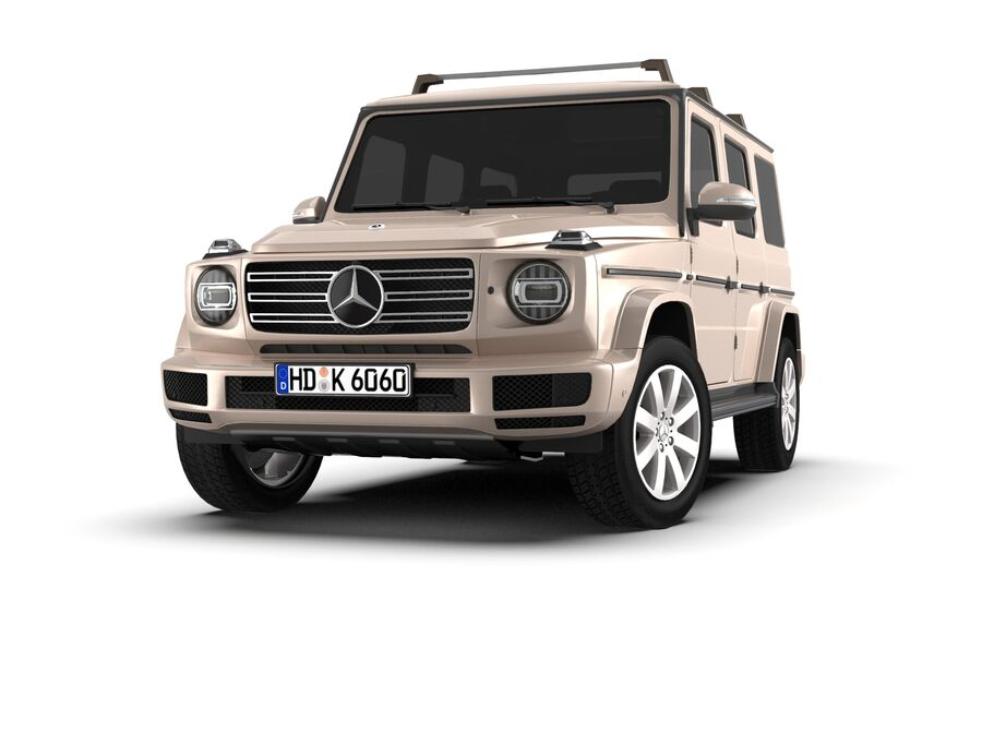 Mercedes-Benz G-Class 2018 royalty-free 3d model - Preview no. 3