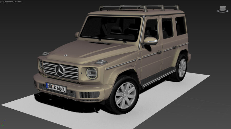 Mercedes-Benz G-Class 2018 royalty-free 3d model - Preview no. 10