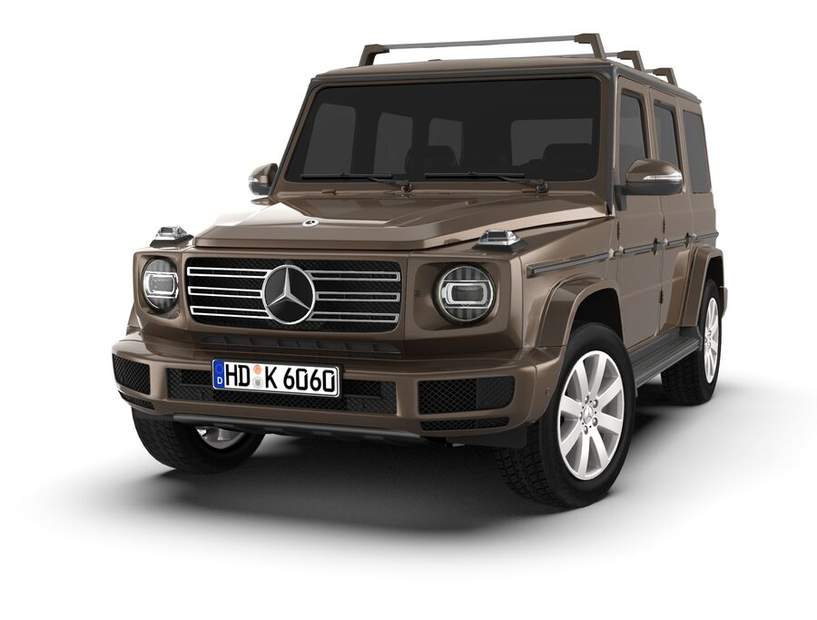 Mercedes-Benz G-Class 2018 royalty-free 3d model - Preview no. 7