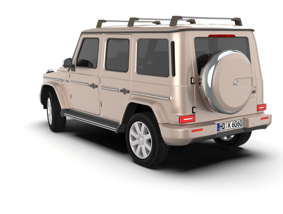 Mercedes-Benz G-Class 2018 royalty-free 3d model - Preview no. 6