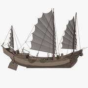 Barco Chinês 3d model