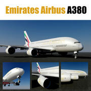 Emirates Airbus A380 3d model