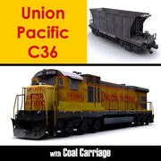Union Pacific C36 Lokomotifi 3d model