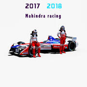 Wyścigi Mahindry 2017 2018 3d model