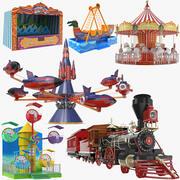 Coleção Parque Temático de Diversões 3d model
