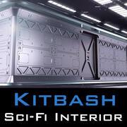 Kitbash intérieur Sci Fi 3d model