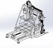 CNC-maskin 3d model