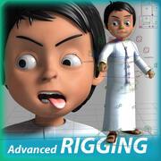 阿拉伯男孩卡通人物 3d model