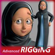 Arabic Woman Cartoon Characater 3d model