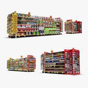 Einzelhandel Gang 05 - Snacks & Küche 3d model