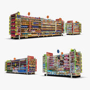 Einzelhandel Gang 06 - Haustiere & Snacks 3d model