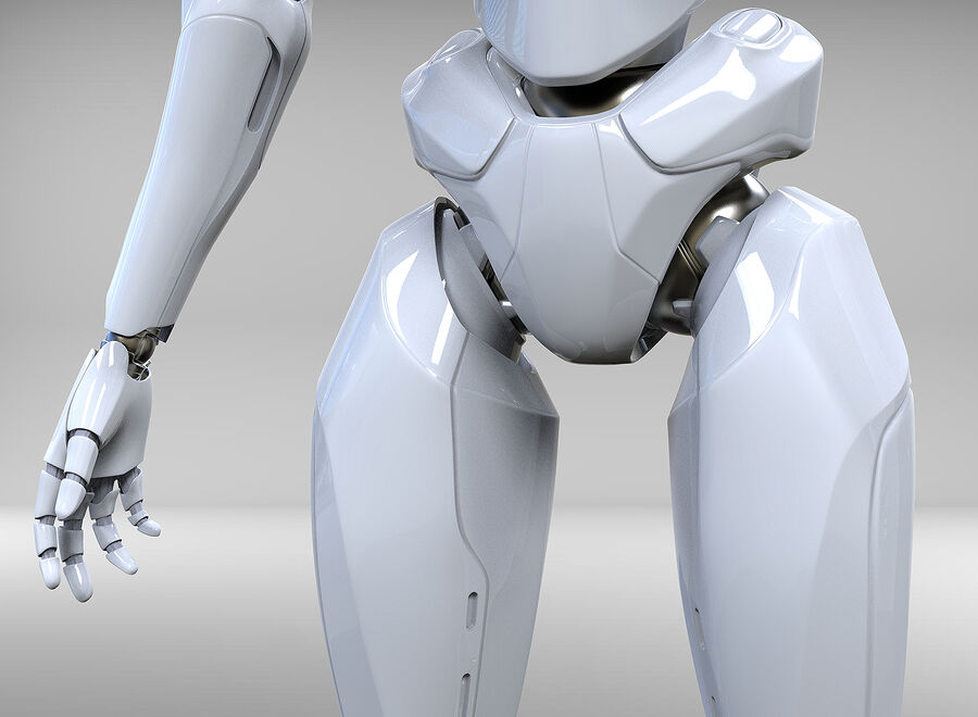 Robot Cyborg royalty-free 3d model - Preview no. 14