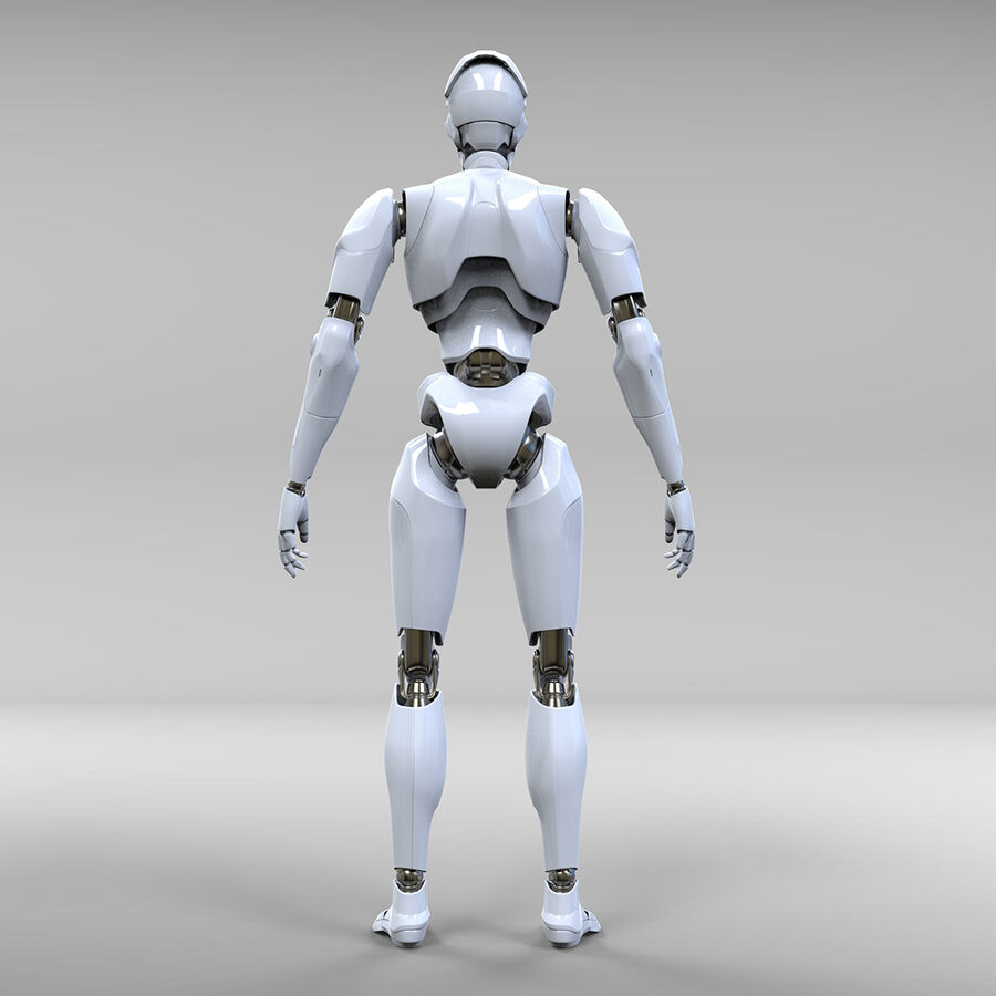Robot Cyborg royalty-free 3d model - Preview no. 9