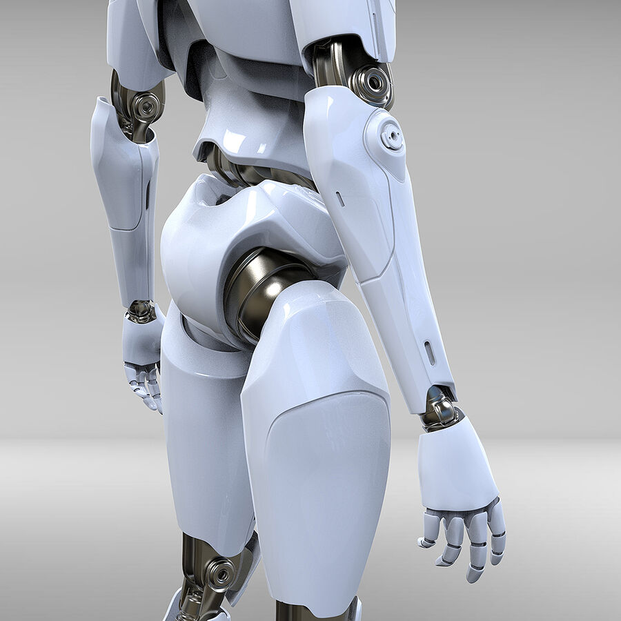 Robot Cyborg royalty-free 3d model - Preview no. 12